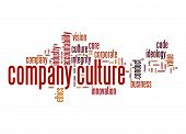 foto of text cloud  - Company culture word cloud image with hi - JPG