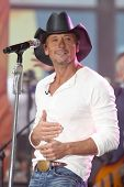 NEW YORK-MAY 23: Country music singer Tim McGraw performs at the Toyota Concert Series on the Today