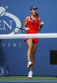 Grand Slam champion Ana Ivanovich during fourth round match at US Open 2013 against Victoria Azarenk