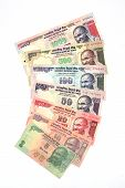 Indian Currency Notes On White