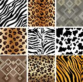 Animal Print seamless Tiling patterns