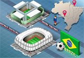 Isometric Stadium Of Cuiaba And Fortaleza, Brazil
