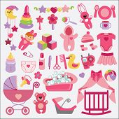 Newborn Baby-girl Items Set Collection.baby Shower