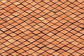 new red tiles roof as background and texture