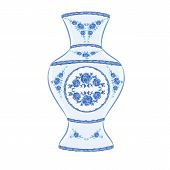 Vase Faience  Vector Without Gradients