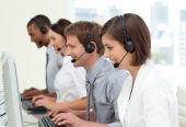 stock photo of telemarketing  - Multi - JPG