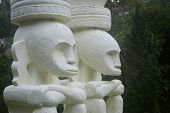 Two white statues