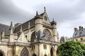 Saint Germain l'Auxerrois Church near Louvre Museum. Paris, France