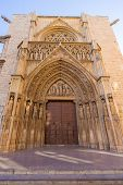 Valencia Cathedral Apostoles door where Tribunal de las Aguas traditional court meets in Spain
