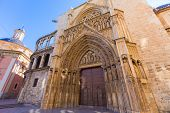 stock photo of apostolic  - Valencia Cathedral Apostoles door where Tribunal de las Aguas traditional court meets in Spain - JPG