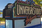 Hollywood- Usa, October, 3: Universal Studios Sign Seen At Universal Studios In Los Angeles In Octob