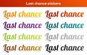 Last Chance Stickers Set