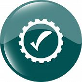 foto of informatics  - informatic protection shield icon web button isolated on white - JPG