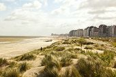 North Sea coast at Knokke-Heist near Zeebrugge, Belgium