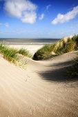 Beach and dunes at the belgian North Sea coast