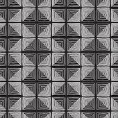 Tartan Seamless Pattern In Black And White