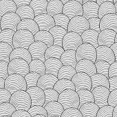 Balls Seamless Pattern In Black And White