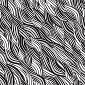 Beach Seamless Pattern In Black And White