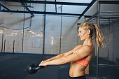 Female Athlete Doing Crossfit Workout
