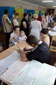 KIEV, UKRAINE - May 25, 2014: Vote for the early presidential elections in Ukraine