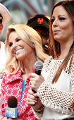 NEW YORK-MAY 23: NBC host Elisabeth Hasselbeck (L) and singer Sara Evans at Fox and Friends' All-Ame