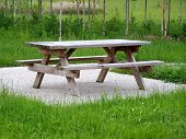 a picnic table