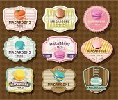 Set of Macaroon Labels