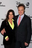 LOS ANGELES - MAY 19:  Marcia Gay Harden, Bradley Whitford at the Disney Media Networks Internationa