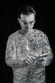 Spaceman With Digital Tablet
