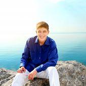 Teenager At Seaside