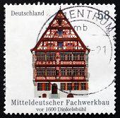 Postage Stamp Germany 2012 Half-timbered Building In Dinkelsbuhl