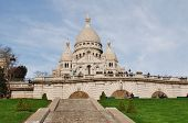 PARIS, FRANCE - MARCH 19, 2014: The Roman Catholic Basilica of Sacre Couer at Montmartre. Designed b