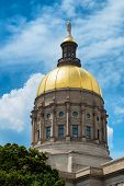 Gold Dome Of Georgia Capitol In Atlanta