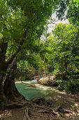 Erawan Waterfall In Kanchanaburi, Thailand