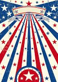 A vintage USA poster with a texture for your publicity