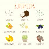 Set of superfoods part 1