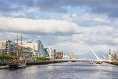 Liffey River In Dublin