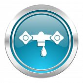 water icon, hydraulics sign