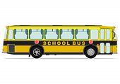 picture of motor coach  - Vintage school bus - JPG