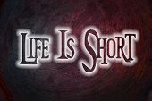 Life Is Short Concept