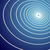 Espiral de fundo azul