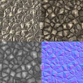 Rocks Seamless Generated Texture (Diffuse, Bump, Normal)