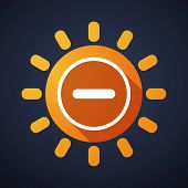 picture of subtraction  - Illustration of a sun icon with a subtraction sign - JPG