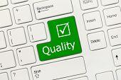 White Conceptual Keyboard - Quality (green Key)