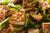 foto of stir fry  - Homemade Tofu Stir Fry with Vegetables and Rice - JPG