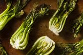 Baked Organic Baby Bok Choy