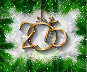 foto of christmas theme  - 2015 New Year and Happy Christmas background for your flyers - JPG