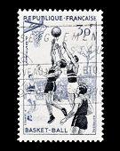 Basketball stamp 1956