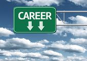 Creative sign with the message - Career