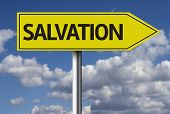 image of salvation  - Creative sign with the message  - JPG